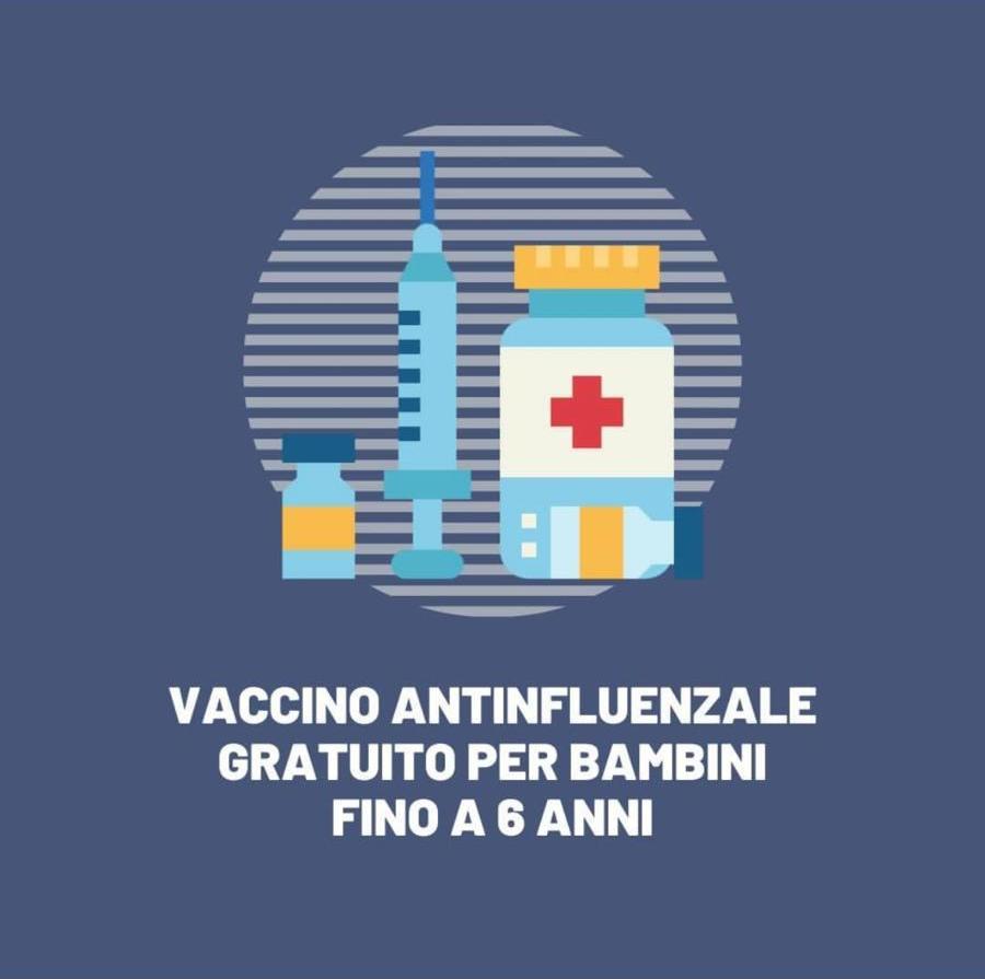 Vaccino antinfluenzale gratuito per bambini fino a 6 anni